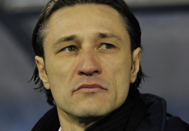 FILE - In this Nov. 19, 2013, file photo, Croatia's head coach Niko Kovac looks on at the beginning of a World Cup qualifying playoff second leg soccer match against Iceland in Zagreb, Croatia. Kovak already knows it wont be at full strength for the difficult opener against Brazil. (AP Photo/Darko Bandic,File)