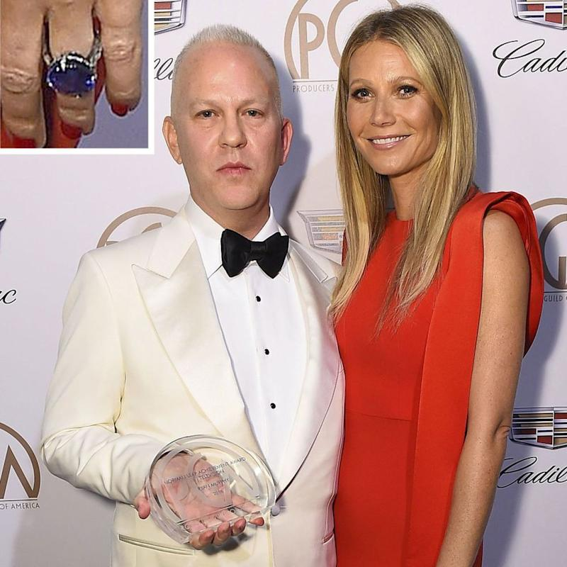 Gwyneth Paltrow and Ryan Murphy at the Producers Guild Awards on Saturday