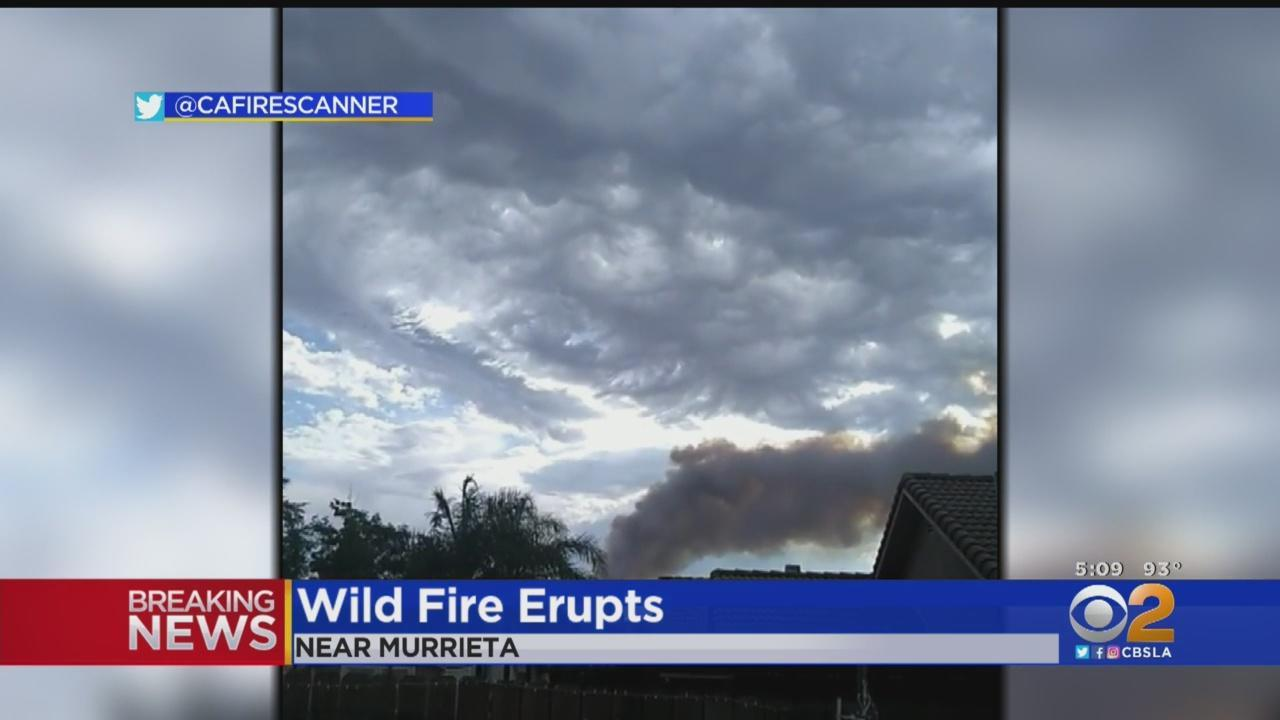 Possible Lightning Strike Sparks Brush Fire Near Murrieta