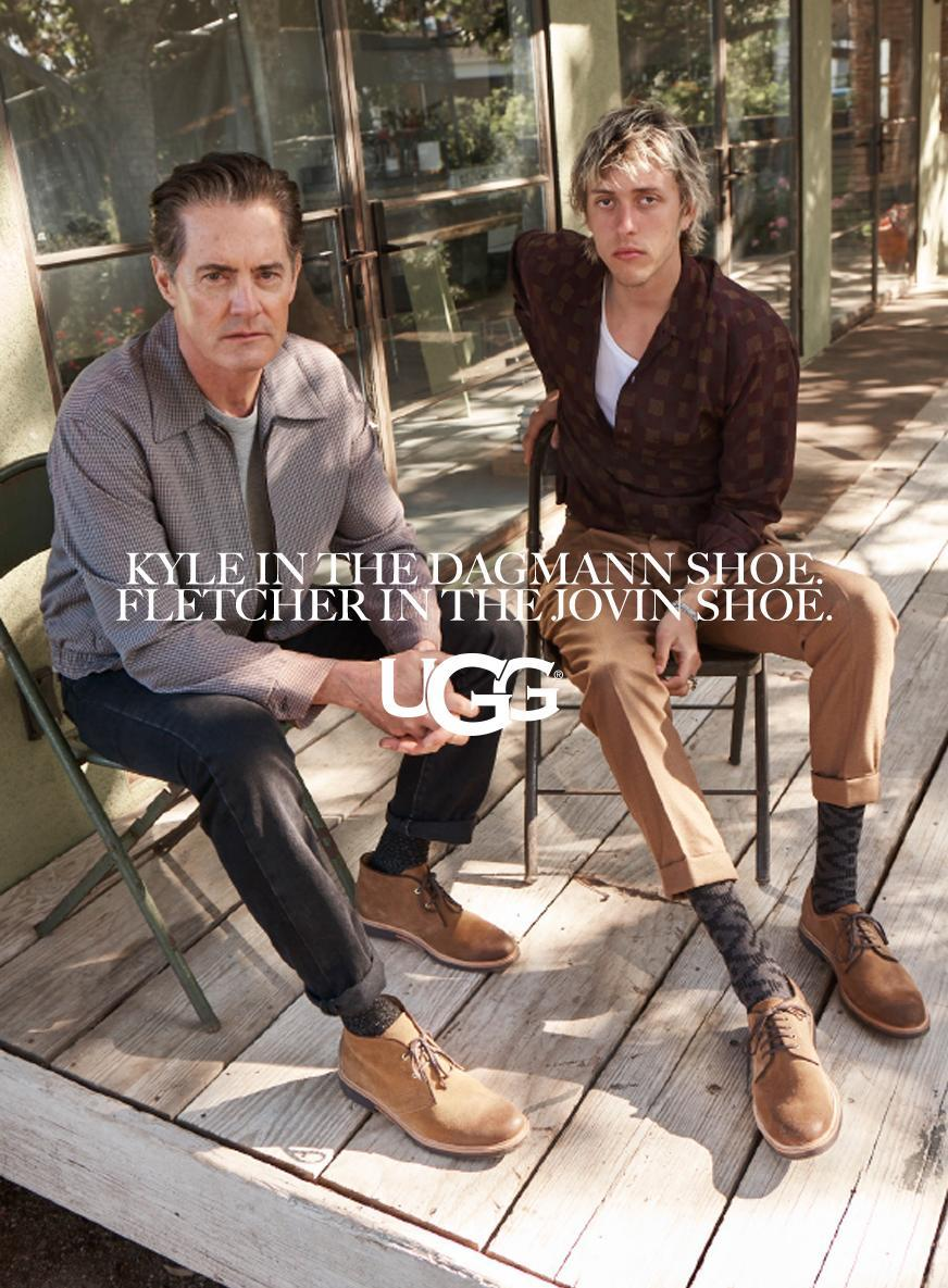 <p>Kyle MacLachlan and Fletcher Shears. (Photo: Courtesy of Frederic Auerbach/Ugg) </p>
