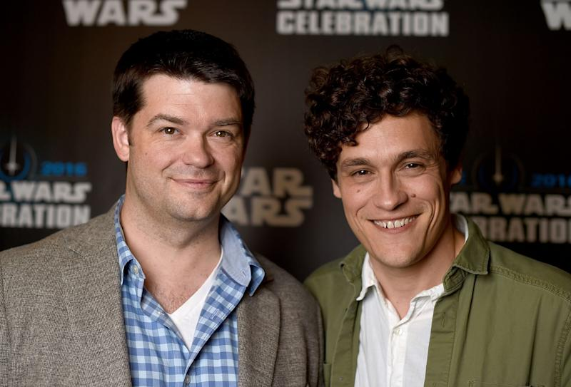 Chris Miller (left) and Phil Lord at Star Wars Celebration 2016