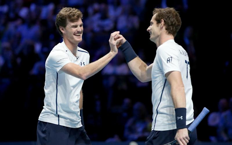 Andy Murray and Jamie Murray - PA