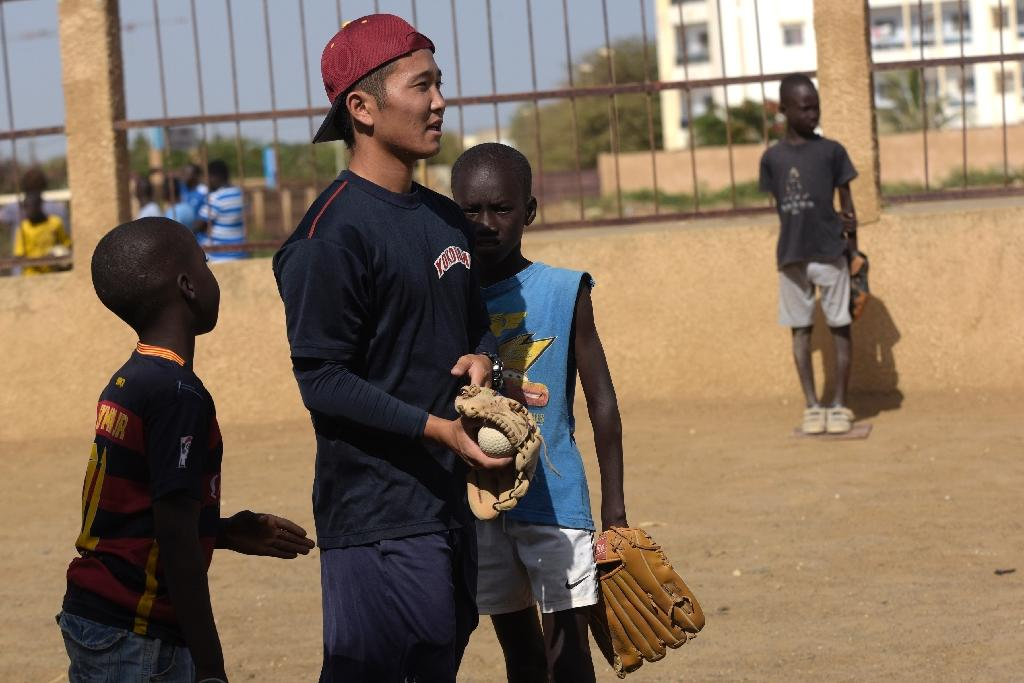 Ryoma Ogawa arrived in Senegal in January 2015, a baseball ambassador volunteering on behalf of the Japan International Cooperation Agency (AFP Photo/Seyllou)
