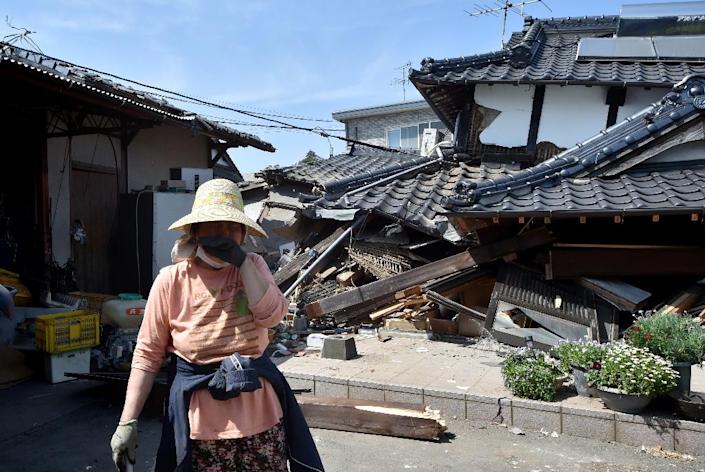 The April earthquakes on the Japanese island of Kyushu were the most devastating natural events of 2016, inflicting costs of $31 billion in Japan, according to Munich Re (AFP Photo/Kazuhiro Nogi)