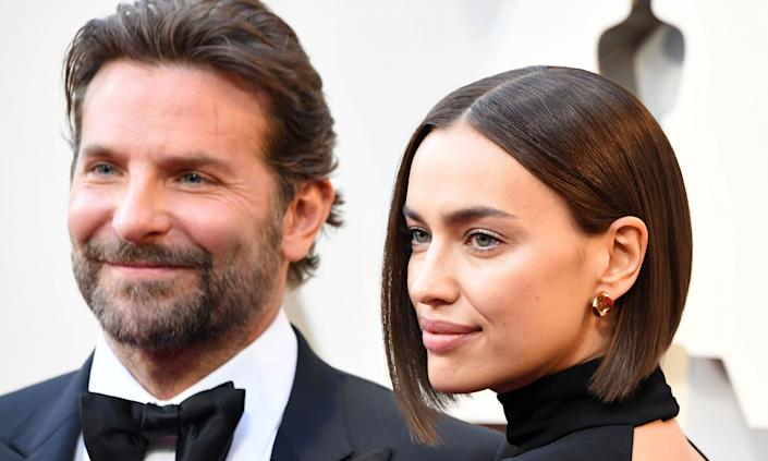"""Bradley Cooper and Irina Shayk ended their relationship after four years of dating earlier in 2019. Cooper, who shares a daughter with his former partner, had a huge year as <em>A Star Is Born</em> was nominated for multiple Oscars. He also hit headlines when his emotional performance with Lady Gaga at the ceremony <a href=""""https://uk.movies.yahoo.com/internet-goes-meltdown-bradley-cooper-lady-gagas-oscars-performance-2-064206517.html"""" data-ylk=""""slk:caused a stir;outcm:mb_qualified_link;_E:mb_qualified_link;ct:story;"""" class=""""link rapid-noclick-resp yahoo-link"""">caused a stir</a>. (Steve Granitz/WireImage)"""