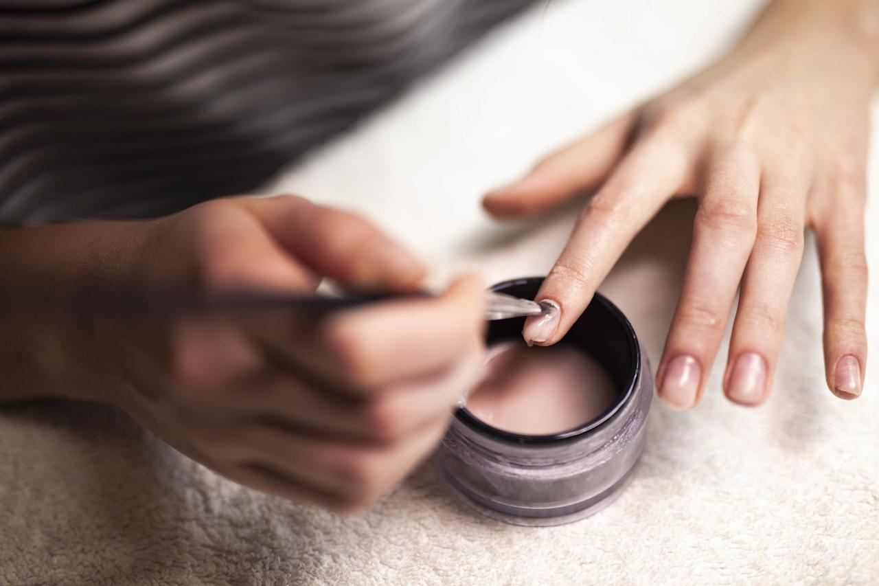 """<p>If you can't get to a salon, you can opt for an at-home removal system like <a href=""""https://www.popsugar.com/buy/Red-Carpet-Manicure-Removal-Kit-557908?p_name=Red%20Carpet%20Manicure%20Removal%20Kit&retailer=ulta.com&pid=557908&price=10&evar1=bella%3Aus&evar9=41910201&evar98=https%3A%2F%2Fwww.popsugar.com%2Fbeauty%2Fphoto-gallery%2F41910201%2Fimage%2F47320475%2FAt-Home-Removal-Kits&list1=nail%20polish%2Cnails%2Cbeauty%20tips&prop13=api&pdata=1"""" rel=""""nofollow"""" data-shoppable-link=""""1"""" target=""""_blank"""" class=""""ga-track"""" data-ga-category=""""Related"""" data-ga-label=""""https://www.ulta.com/remover-kit?productId=xlsImpprod4480407&amp;akamai-feo=off"""" data-ga-action=""""In-Line Links"""">Red Carpet Manicure Removal Kit</a> ($10) to get the job done. </p> <p>These are usually pretty inexpensive and, thankfully, they're also really easy to use. Most of them come with all the materials you need for you to give yourself a salon-worthy gel polish removal that doesn't require you to leave your home.</p>"""