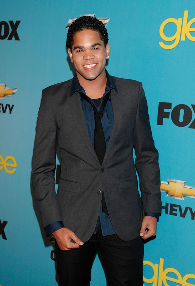 """<a href=""""/dijon-talton/contributor/1001569"""">Dijon Talton</a> (""""Matt Rutherford"""") arrives at Fox's <a href=""""/glee/show/44113"""">""""Glee""""</a> Spring Premiere Soiree at Chateau Marmont on April 12, 2010 in Los Angeles, California."""