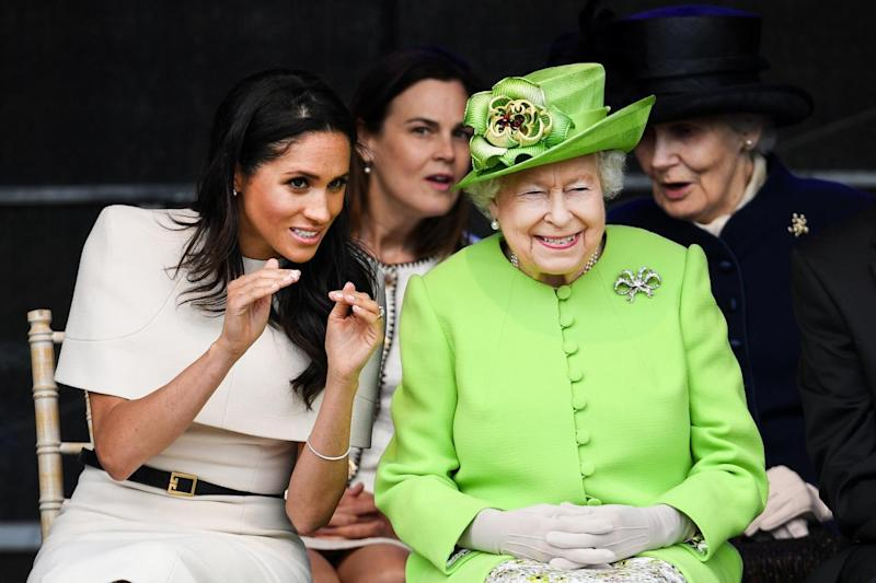 Meghan joined the Queen for their first public engagement together last week (Getty Images)
