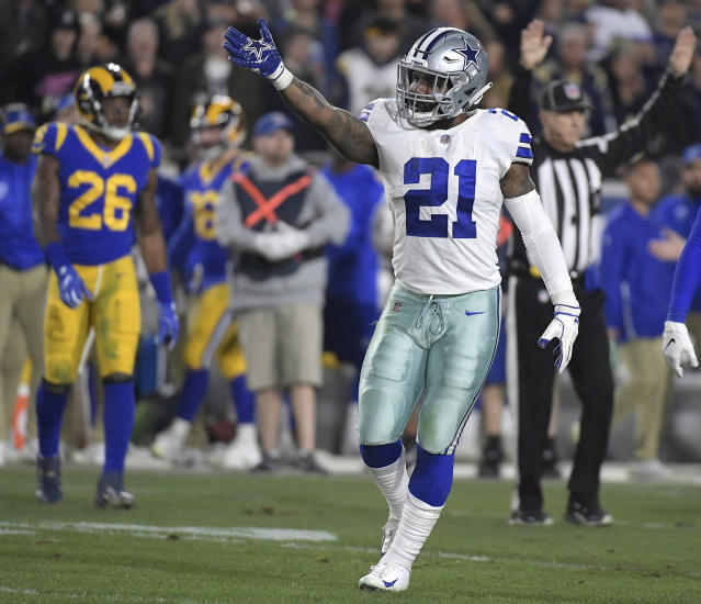 Charges have been filed against Ezekiel Elliott following an incident with a Las Vegas security guard in May. (Max Faulkner/Fort Worth Star-Telegram/Getty Images)