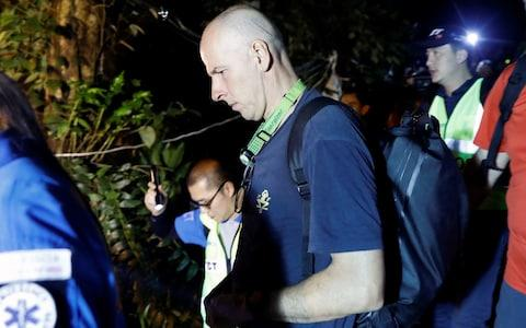 British diver Richard William Stanton arrives to the Tham Luang caves  - Credit: SOE ZEYA TUN /Reuters