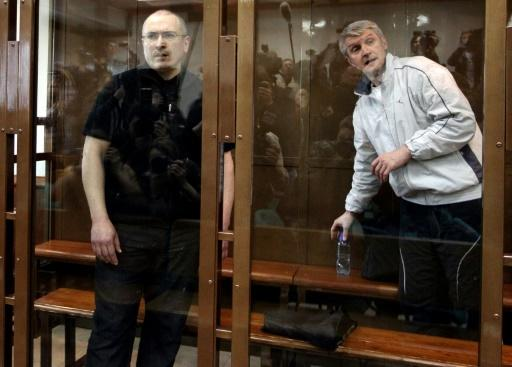 Khodorkovsky, left, and his business partner Platon Lebedev, right, both spent a decade in jail for corruption. Putin unexpectedly pardoned Khodorkovsky in 2013