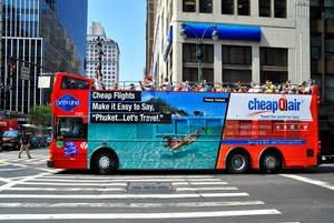 "CheapOair's ""Travel the World for Less"" Campaign Tours the Big Apple"