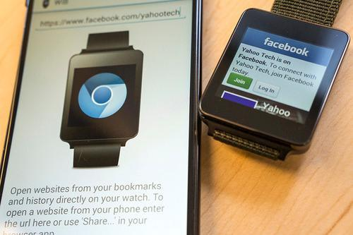 Facebook on an Android watch
