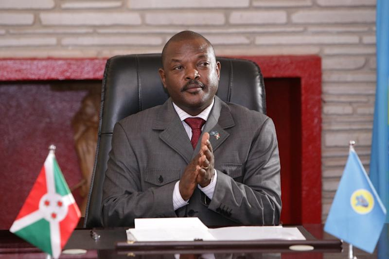 Burundi has been in turmoil since President Pierre Nkurunziza (pictured June 2018) announced in April 2015 that he intended to stand again for the presidency (AFP Photo/STR)