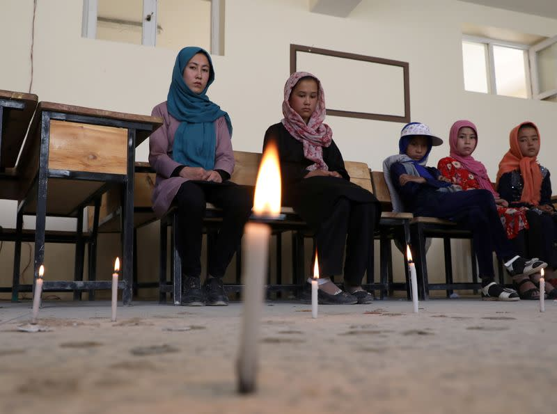 Students attend psychotherapy classes after bombing in Kabul