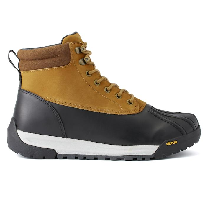 """<p><strong>All-Weather</strong></p><p>huckberry.com</p><p><strong>$188.00</strong></p><p><a href=""""https://go.redirectingat.com?id=74968X1596630&url=https%3A%2F%2Fhuckberry.com%2Fstore%2Fall-weather%2Fcategory%2Fp%2F64319-duckboot&sref=https%3A%2F%2Fwww.menshealth.com%2Fstyle%2Fg37095236%2Fbest-rain-boots-for-men%2F"""" rel=""""nofollow noopener"""" target=""""_blank"""" data-ylk=""""slk:BUY IT HERE"""" class=""""link rapid-noclick-resp"""">BUY IT HERE</a></p><p>Looking for another duck boot? Huckberry's Duck Boot is made for any occasion, whether you're hiking or walking the city streets. The shoes are 100 percent waterproof, with a hyper-tractioned Vibram outsole for various terrains to accompany a sneaker-like fit that's true to size.</p>"""