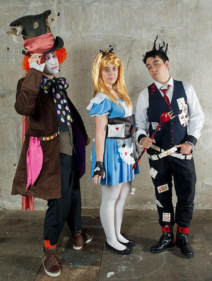 """<p>Your whole clique can go down the rabbit hole with these fun <em>Alice in Wonderland</em>-themed ensembles, which include the Mad Hatter, Alice, and the Red King. </p><p><a class=""""link rapid-noclick-resp"""" href=""""https://www.amazon.com/FENSACE-Womens-Length-Dorothy-Costume/dp/B0796LQ4Z7?tag=syn-yahoo-20&ascsubtag=%5Bartid%7C10070.g.3083%5Bsrc%7Cyahoo-us"""" rel=""""nofollow noopener"""" target=""""_blank"""" data-ylk=""""slk:SHOP BLUE DRESS"""">SHOP BLUE DRESS</a></p>"""