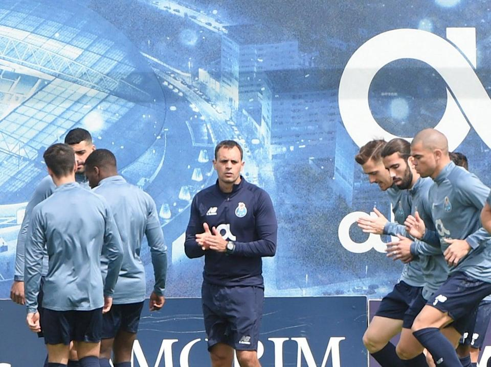 Porto players train ahead of their second leg against Chelsea (AFP via Getty Images)