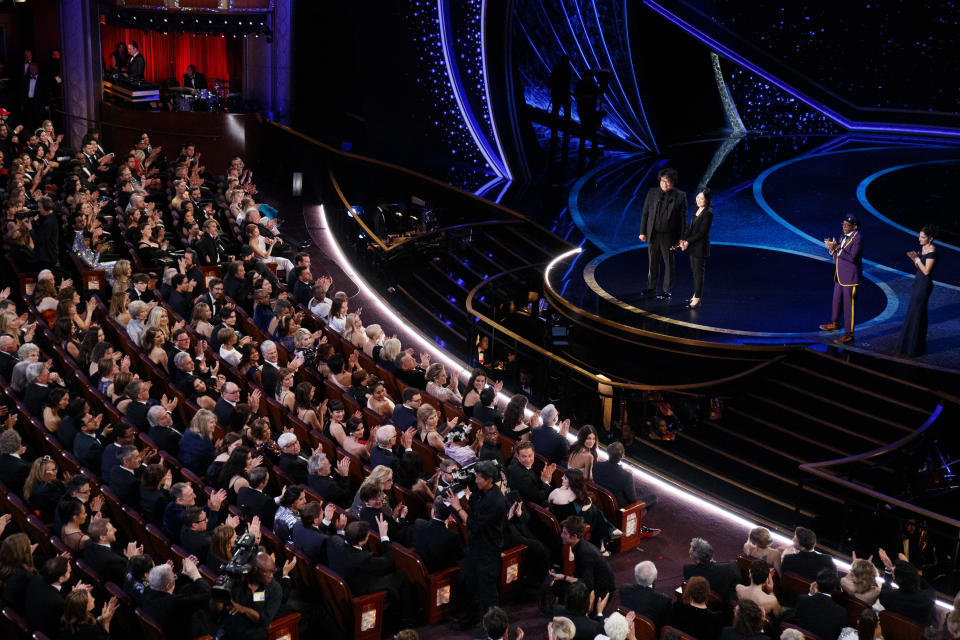 <p>The 2020 Oscars were held at the Dolby Theatre in Hollywood. The 2021 Oscars will be held there again, as they have been since 2013, but some components of the show will also take place at the Los Angeles Union Station. (Arturo Holmes/Getty Images)</p>