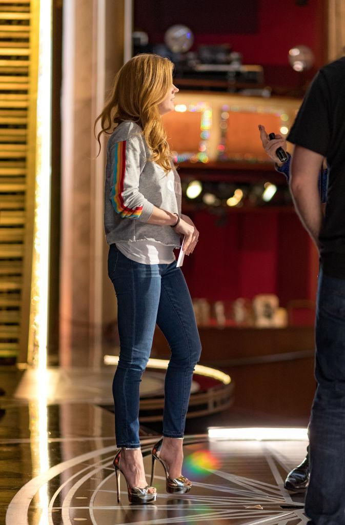 <p>Look at those shoes! Amy Adams at the Oscars rehearsals (Photo: Getty Images) </p>