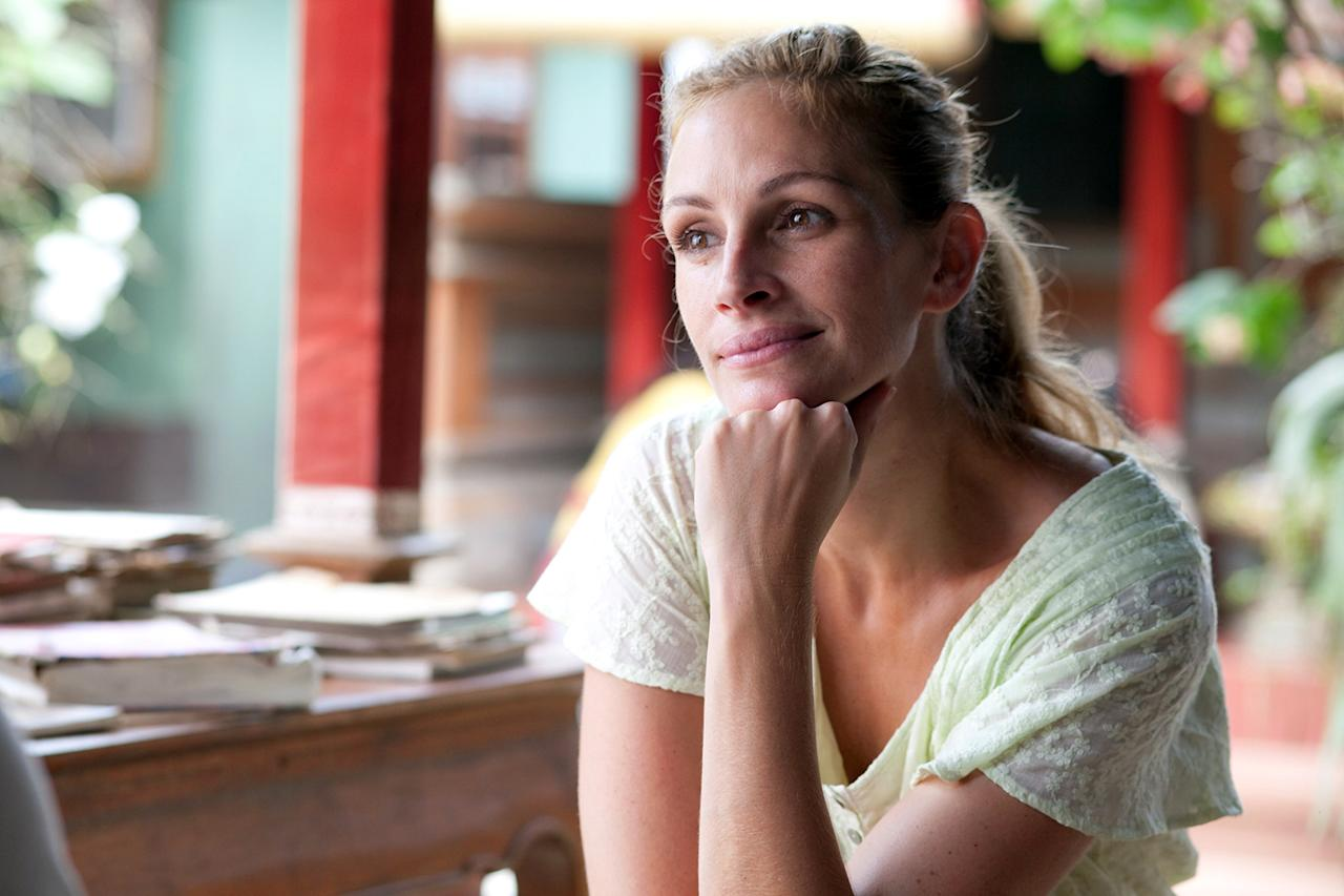 """Oscar winner Julia Roberts used """"Olympic carbo loading"""" to add an extra 10 pounds to her figure for """"Eat, Pray, Love."""" """"By the time we'd cut, I'd be done with an entire pizza or bowl of pasta."""""""