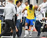 Brazil's Neymar misses the Copa America on home soil due to injuring ankle ligaments in a pre-tournament friendly against Qatar (AFP Photo/EVARISTO SA)