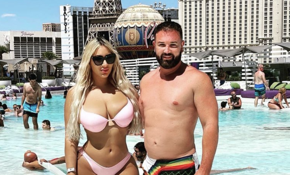 Anthony Hess (right) fat a party in the US. Source: Instagram