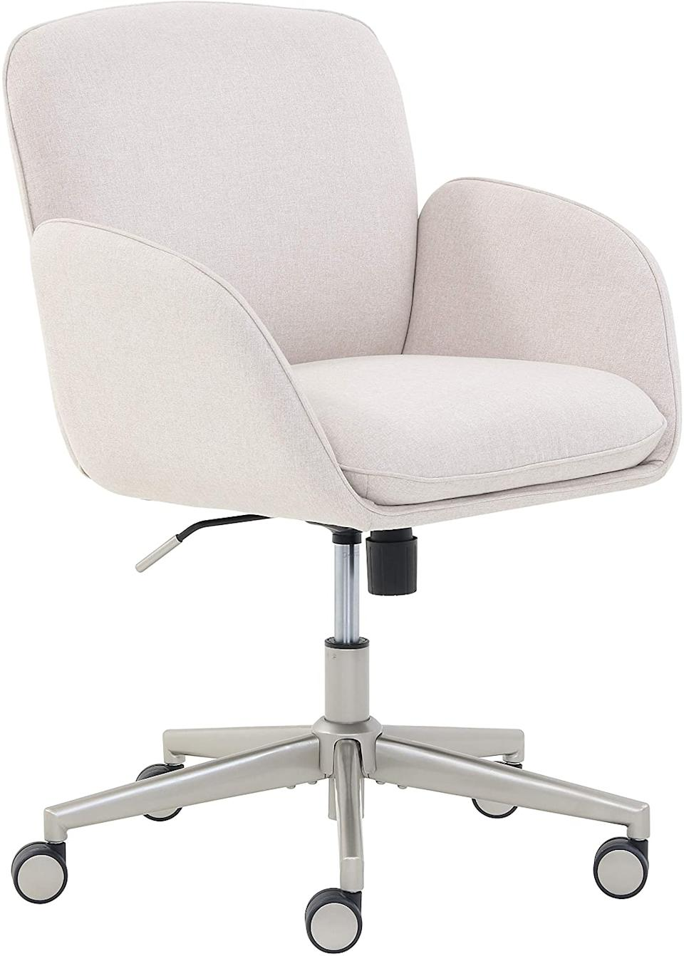 Rivet Modern Upholstered Swivel Task Chair (Photo via Amazon)
