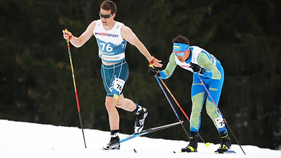 Australian skier Mark Pollock's choice of singlet and shorts while competing at the Ski World Championships in Germany last weekend got fans talking. (Photo by Matthias Hangst/Getty Images)