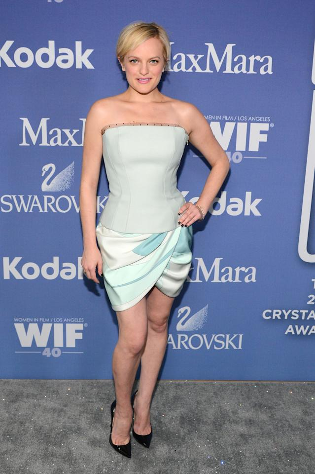 BEVERLY HILLS, CA - JUNE 12: Actress Elisabeth Moss attends Women In Film's 2013 Crystal + Lucy Awards at The Beverly Hilton Hotel on June 12, 2013 in Beverly Hills, California. (Photo by Mark Davis/Getty Images for Women In Film)