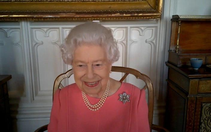 The Queen speaks via a video call from Buckingham Palace - Buckingham Palace/Reuters