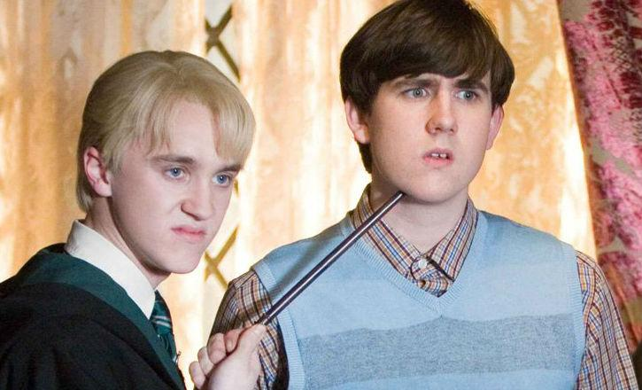 Matthew Lewis, right, starred as Neville Longbottom in the Harry Potter films. (Warner Bros)