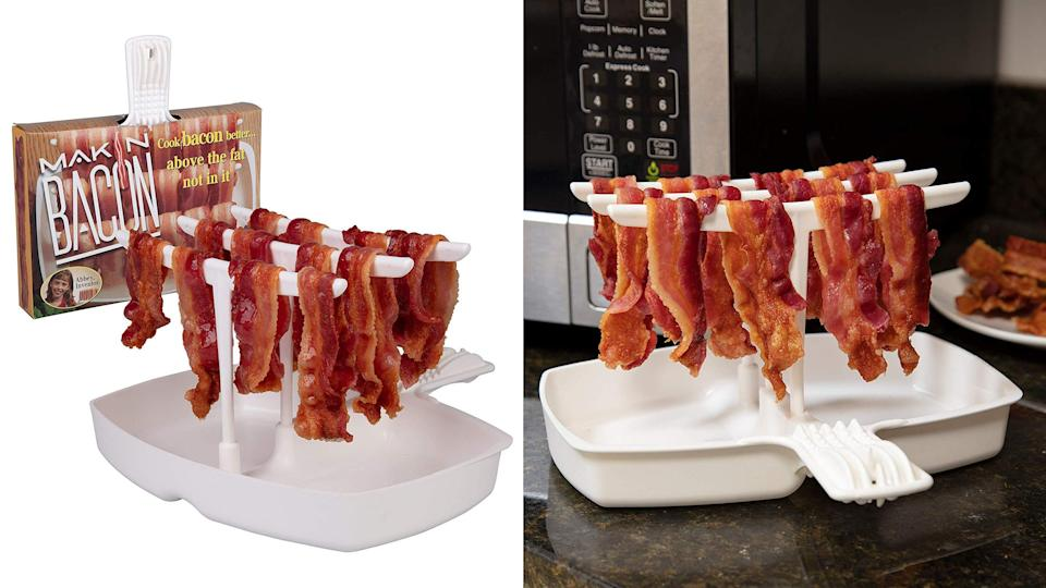 Best weird but practical gifts: Makin Bacon Microwave Bacon Cooker