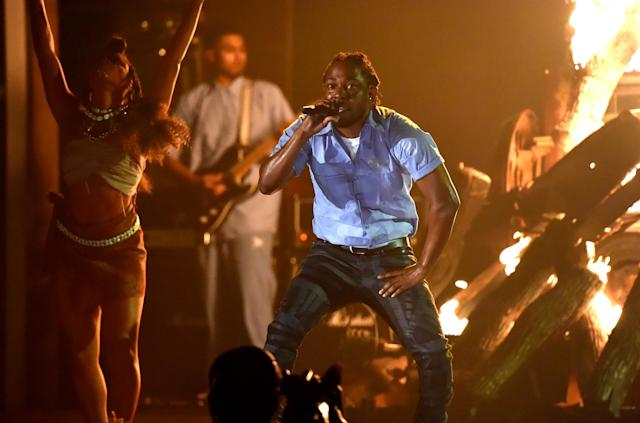<p>Look for Kendrick Lamar's <i>DAMN.</i> to edge out Jay-Z's <i>4:44</i>. This will be Lamar's second studio album in a row to win here. He's as dominant in the field as Eminem and Kanye West were when they each won here with three consecutive studio albums. (Photo: Jeff Kravitz/FilmMagic) </p>
