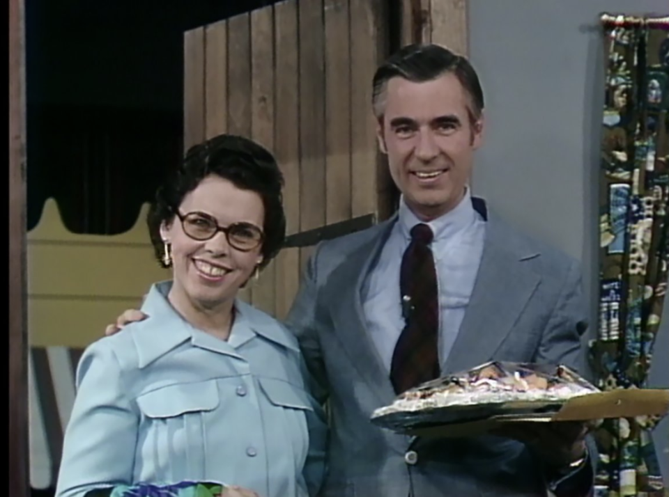 Joanne Rogers appeared on husband Fred's show in its early days. (Photo: Twitter)