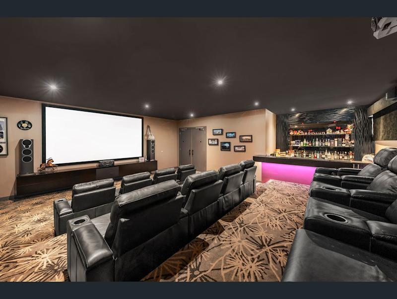 The palatial home has its own cinema. Image: Ray White