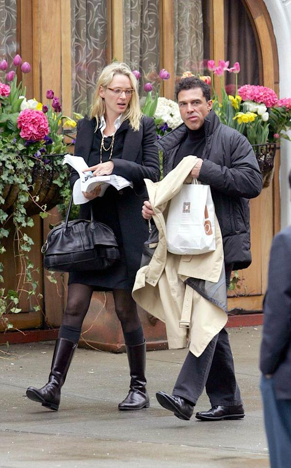 "Uma Thurman's ex-boyfriend Andre Balazs doesn't seem very interested in what she has to say. <a href=""http://www.infdaily.com"" target=""new"">INFDaily.com</a> - April 23, 2006"