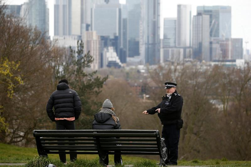 Police were given new powers to serve on the spot fines. (REUTERS)