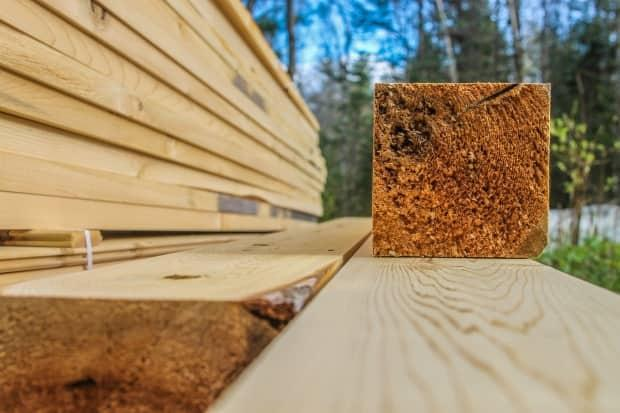 Vancouver police warn that thieves are targeting construction sites for lumber due to soaring market values. (Stu Mills/CBC - image credit)