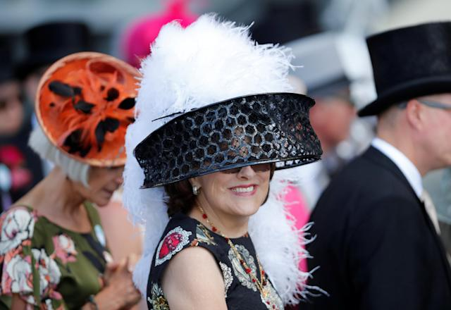 Horse Racing - Royal Ascot - Ascot Racecourse, Ascot, Britain - June 22, 2018 A racegoer during the racing Action Images via Reuters/Andrew Boyers