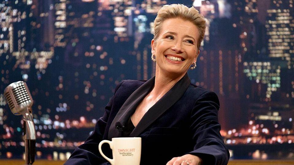 Emma Thompson stars as talk show host Katherine Newbury in 'Late Night', written by Mindy Kaling. (Credit: eOne)