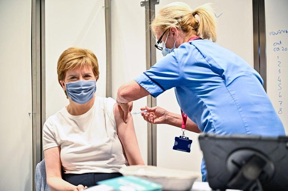 Scottish First Minister Nicola Sturgeon said vaccine passports will be 'worth it' if they help prevent further restrictions (Jeff J Mitchell/PA) (PA Wire)