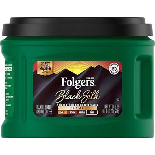 """<p><strong>Folgers</strong></p><p>amazon.com</p><p><strong>$8.19</strong></p><p><a href=""""https://www.amazon.com/dp/B00R92VJSE?tag=syn-yahoo-20&ascsubtag=%5Bartid%7C1782.g.33013485%5Bsrc%7Cyahoo-us"""" rel=""""nofollow noopener"""" target=""""_blank"""" data-ylk=""""slk:BUY NOW"""" class=""""link rapid-noclick-resp"""">BUY NOW</a></p><p>Weening yourself off a multiple-cup-a-day coffee addiction? This silky black blend lives up to its name, and the caffeine-free coffee is worth drinking just for the taste.</p>"""
