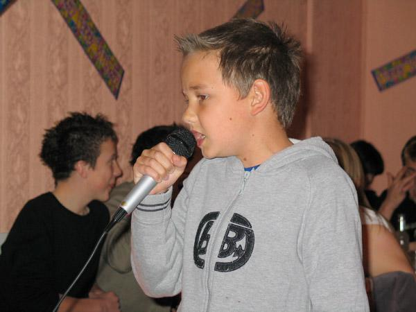 Liam was singing from an early age