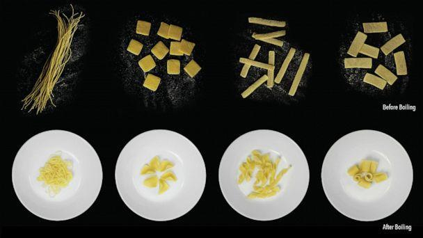 PHOTO: Scientists have designed pasta that folds flat but regains its traditional shape as it's boiled. (Morphing Matter Lab, Carnegie Mellon University)