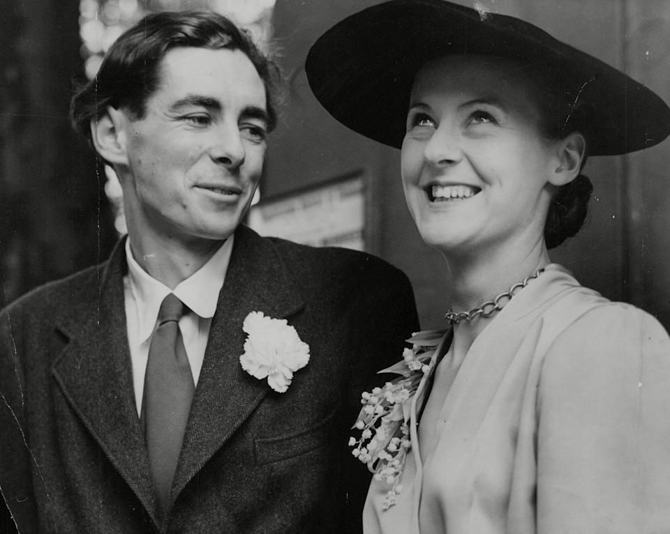 Lady Susan Chitty with Sir Thomas Chitty on their wedding day (ANL/Shutterstock)