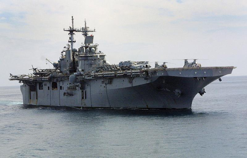 American assault war ship USS Boxer (LHD 4). (Photo: Sebastian D'Souza/AFP/Getty Images)