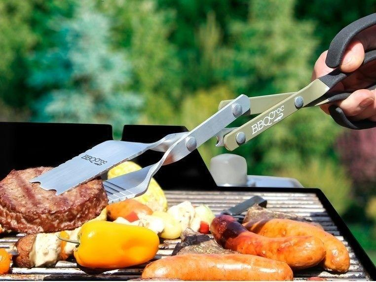 """No more fumbling around for the right grill gadget while your burgers are ready to be flipped: This acts as a spatula, tongs and brush all in one.<br /><br /><strong>Promising review:</strong>""""Bought it for my son in law for Christmas, a grill master! Loved not burning his wrist on the big grill, and can pick up all large cuts of meat and small pieces of vegetable without a problem. Very well-made. Extremely pleased with this purchase!"""" — Joyce<br /><br /><strong>Get it from The Grommet for<a href=""""https://go.skimresources.com?id=38395X987171&xs=1&url=https%3A%2F%2Fwww.thegrommet.com%2Fproducts%2Fbbq-croc-3in1-bbq-tool&xcust=HPHandheldKitchenTools607ef55ae4b01bc7979c2797"""" target=""""_blank"""" rel=""""noopener noreferrer"""">$17.95+</a>(available in three sizes).</strong>"""