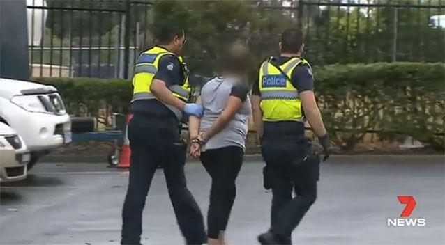Three people were arrested, with a man set to be charged. Picture: 7 News