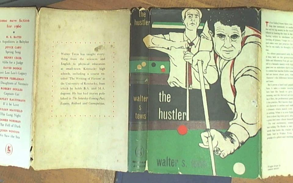 A first edition of Walter Tevis's The Hustler - abebooks.com